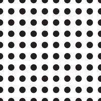 Vector padrões sem emenda com ervilhas brancas e pretas (bolinhas).