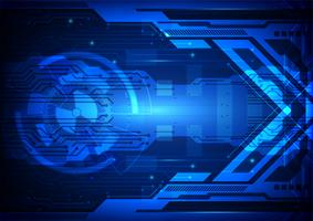 Ilustração em vetor tecnologia digital abstrato azul
