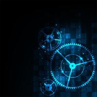 Mecanismo de trabalho digital. vetor