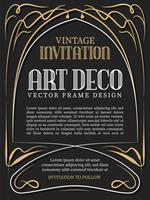 Estilo de art deco de quadro vintage de luxo. ilustração vetorial vetor