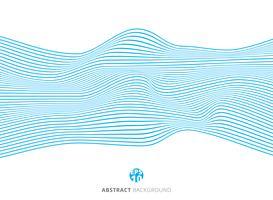 Linhas azuis abstratas teste padrão de onda no fundo branco. vetor