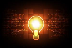 lâmpada em idéias criativas. vetor