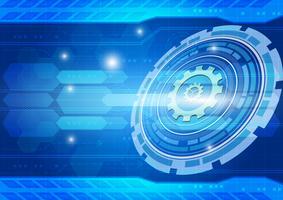 Conceito de tecnologia digital de fundo vector azul abstrato, ilustração vetorial