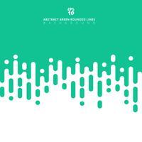 Os pastels verdes abstratos colorem linhas arredondadas geométricas fundo de intervalo mínimo da transição. vetor