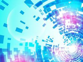 Tecnologia do fundo do vetor no conceito de digital.