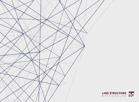 Estrutura abstrata das linhas da sobreposição no fundo branco. vetor