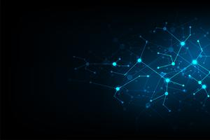 Projeto de rede abstrato da tecnologia do fundo do vetor. vetor