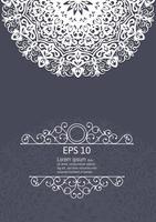 Ilustração do vetor de elementos decorativos vintage de mandala branca