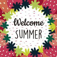 Bem-vindo, verão, fundo vetor
