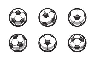 Conjunto de bolas de futebol retrô Vector
