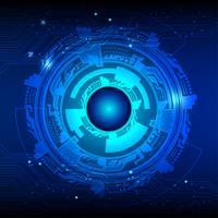 Fundo do vetor de cor azul escura. Conceito de fundo abstrato de tecnologia digital.