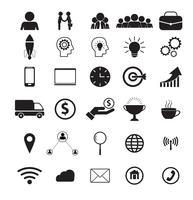 Negócios e rede 30 ícone Vector