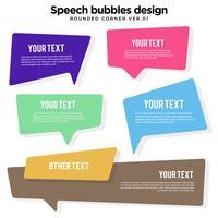 Conjunto de variação de balão de fala