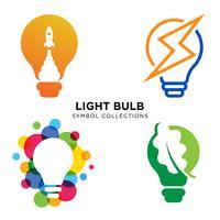 Idéias de lâmpada conceito vetor eps 10 em fundo branco