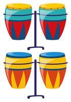 Dois conjunto de tambor colorido
