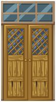 Porta de madeira em mau estado vetor