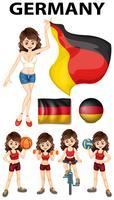 Alemanha representante e muitos esportes vetor