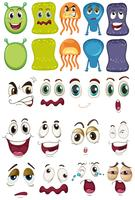Monstro e conjunto de rosto diferente