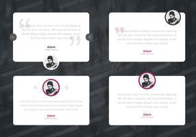 Visualização de interface do usuário de design de depoimento. Consument Testimoni, Client Review. vetor