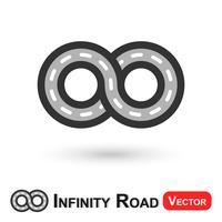Estrada Infinito (viagem infinita) vetor