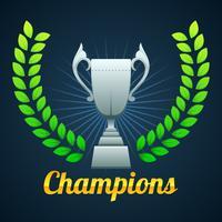 Liga dos campeões de ouro vetor