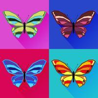 Imagens abstratas de uma borboleta vetor