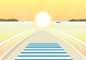 Vetorial, verão, ilustração vetor