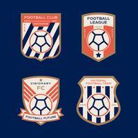 Distintivo de futebol vetor