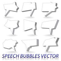 Balões de fala vetor