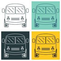 Conjunto de mini-ônibus vetor