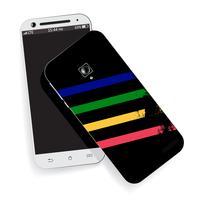 Smartphones realistas em preto e branco vetor