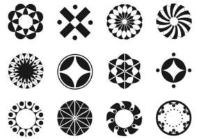 Pacote de elementos vetoriais circulares vetor