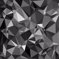 Fundo preto mosaico poligonal, modelos de Design criativo vetor
