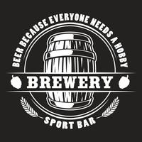 Distintivo de barril de cerveja de vetor