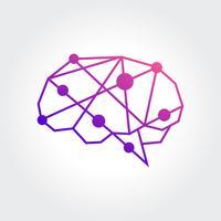 Projeto abstrato do símbolo do cérebro vetor