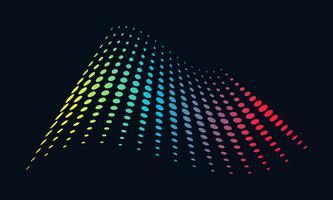 Música logotipo conceito onda sonora, tecnologia de áudio, forma abstrata vetor