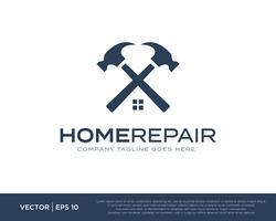 Reparo de casa construir logotipo ícone Vector