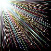 Linha reta da cor da dispersão, fundo abstrato. vetor