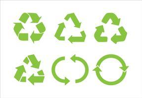 Recicle o vetor de ícone. Recycle Recycling set symbol illustration - Vector