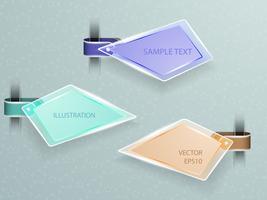 Etiqueta de acrílico decoração de luz LED na etiqueta. vetor