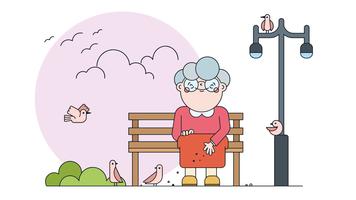 Vetor de aves de alimentação
