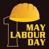 1 pode cartaz do dia do trabalho, ilustração vetorial, banner do dia do trabalho feliz. 1 de Maio. Modelo de design. Ilustração vetorial - Vetor de Stock