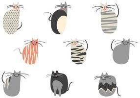 Pacote de vetores de gatos dos desenhos animados