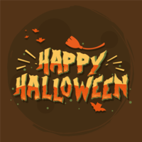 Feliz dia das bruxas tipografia vector
