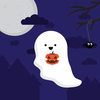 Vetor de fantasma de Halloween