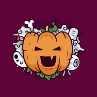 Vetor de abóbora de halloween