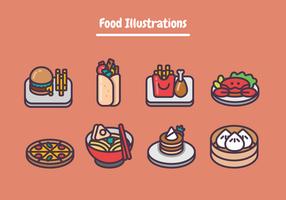 Ilustrações De Alimentos vetor