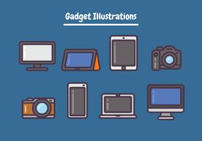 Ilustrações de gadget vetor