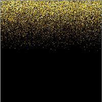cachoeiras douradas brilho sparkle-bubbles champanhe partículas estrelas fundo preto feliz ano novo conceito de férias. vetor