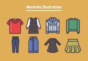 Ilustração de guarda-roupa